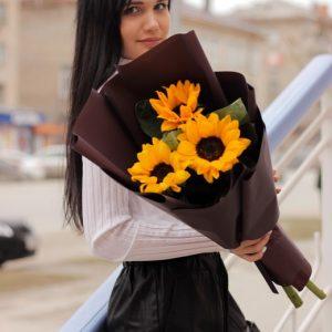 подсолнухи цветы новосибирск 4