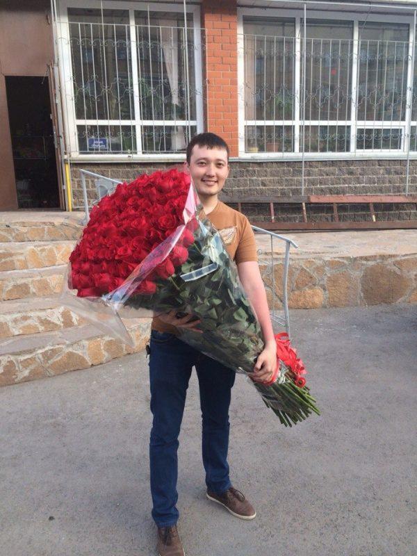высокие розы