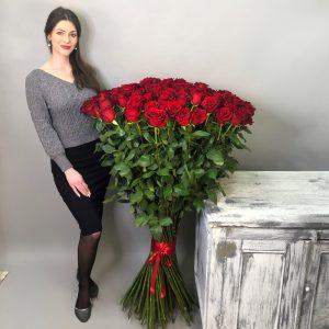 101 высокая роза