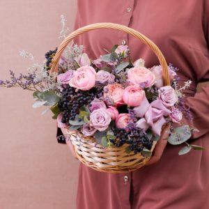 цветы новосибирск корзина
