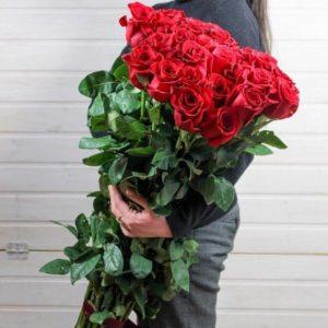 Высокие Розы 25 шт. 100см