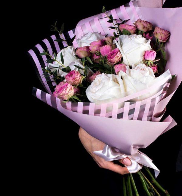 Букет с розами мини