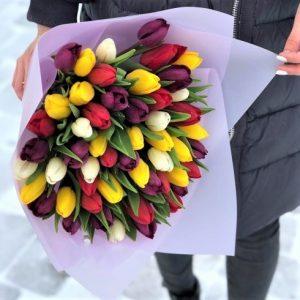 Букет тюльпанов 35 штук