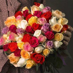 Букет 101 роза mix
