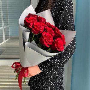 Букет 15 роз красных Новосибирск