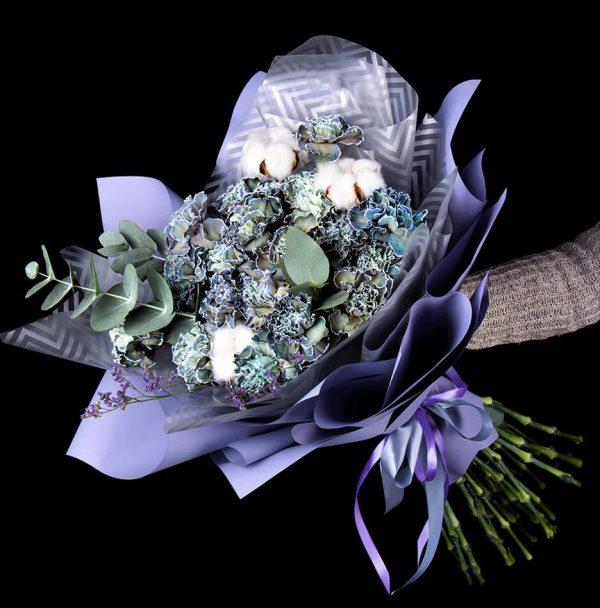 Голубой диантус Великолепие букет