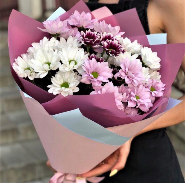 Доставка цветов недорого букет Хризантем