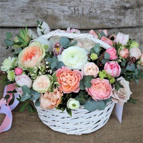 Корзинка цветов доставка бесплатная