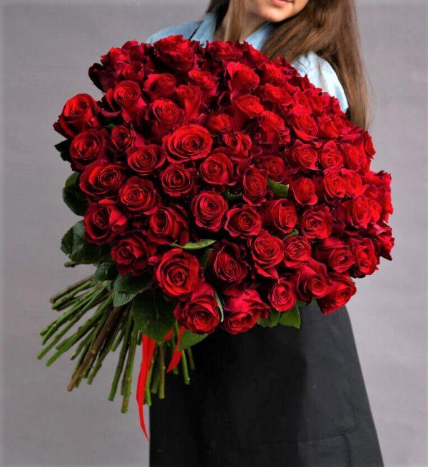 Красная роза Freedom 101 букет