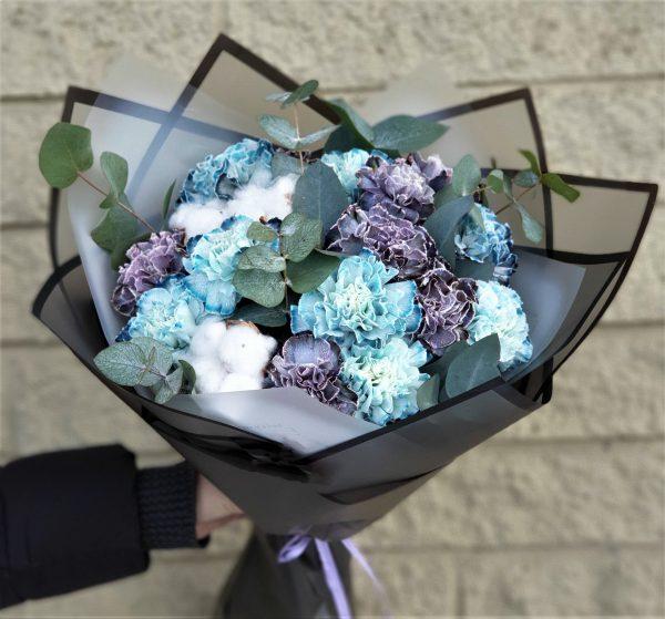 Небесный диантус цветы букет