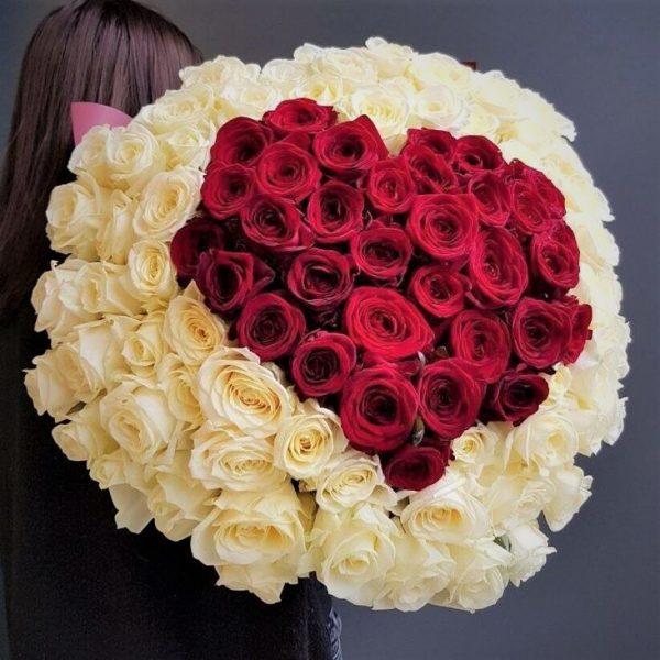 Новосибирск Доставка цветов 101 Сердце