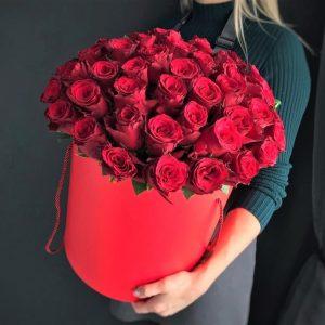 Роза 51 шт. цветы в коробке
