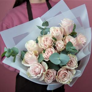 Розовые розы 13 штук доставка