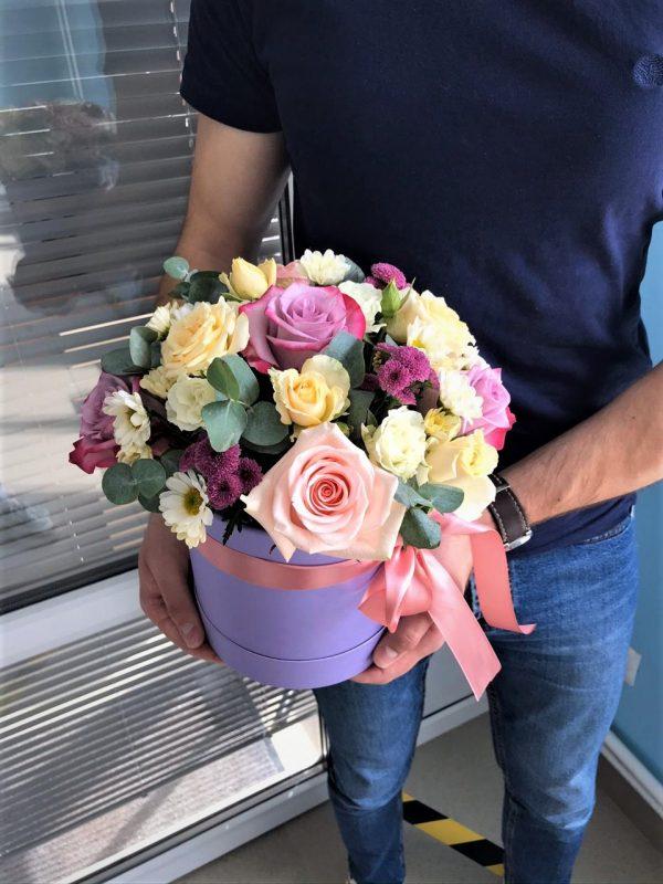 Фиолетовая коробочка цветов