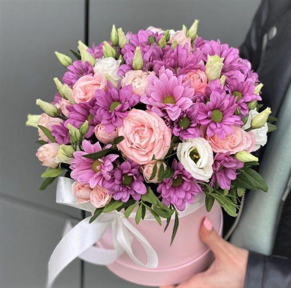 Цветы Новосибирск Коробка микс