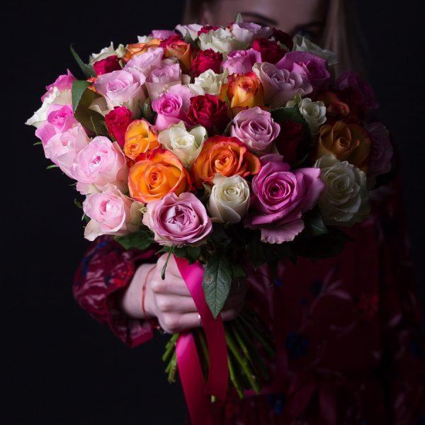 Цветы с доставкой 55 роз