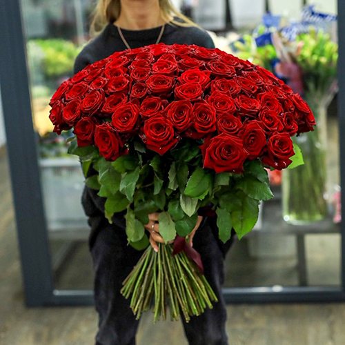 101 Роза Новосибирск Red Naomi №87