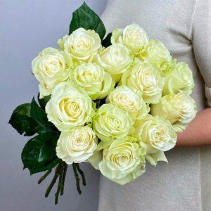 15 розы Белых Новосибирск