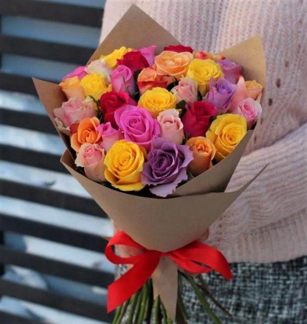 33 роз кения mix