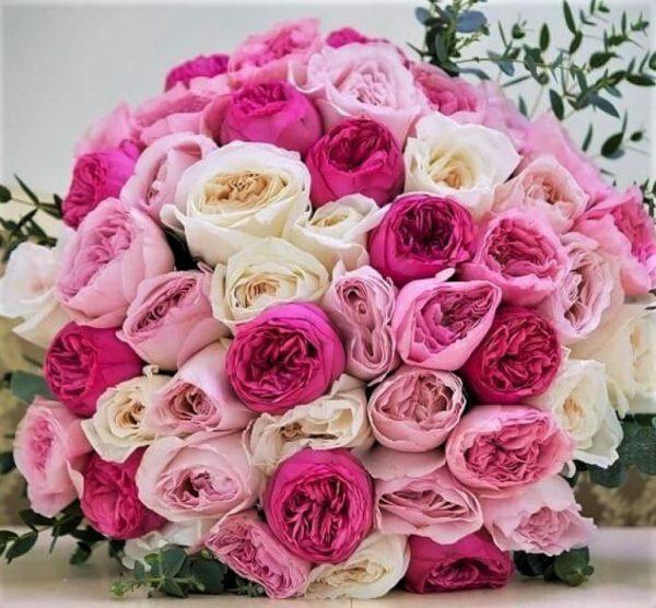 45 роз пионовидных с доставкой