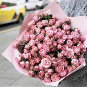 51 роза кустовая нежная букет