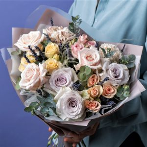 Букет Лавандовая роза