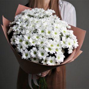 Букет из 15 хризантем белых