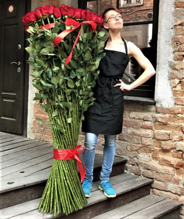 Высокие розы 150 см заказ