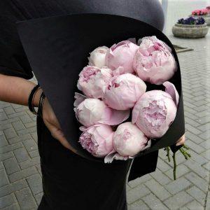 Пион розовый нежный доставка
