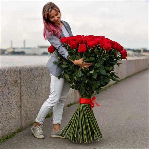 101 роза высокая 120 см